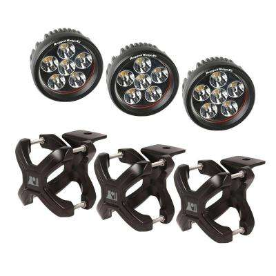 2.25 in. to 3 in. X-Clamp Light Mount and 3.5 in. Round LED Light Kit (3-Pack)