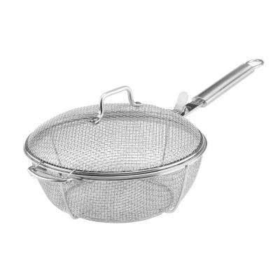 Mesh Grill Pan with Lid
