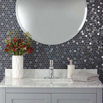 Premier Accents Caviar Penny Round 10 in. x 11 in. x 6 mm Glass Mosaic Wall Tile (0.83 sq. ft. / piece)