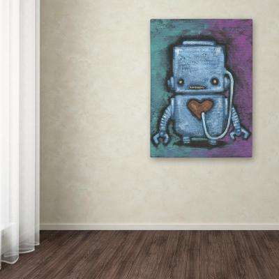 "32 in. x 24 in. ""Weebot-Heart"" by Craig Snodgrass Printed Canvas Wall Art"