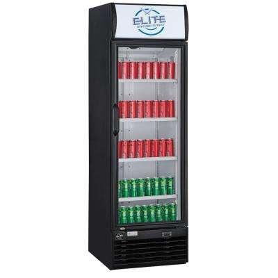 15.1 cu. ft. Commercial Display Cooler Refrigerator with Glass Door in Black