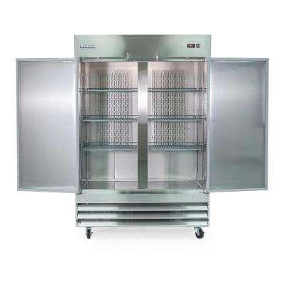 48 cu. ft. 2-Door Commercial Upright Reach-In Freezer in Stainless Steel