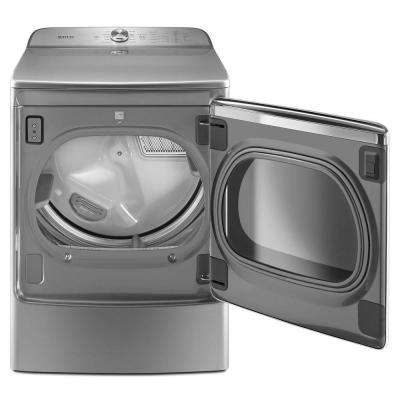 9.2 cu. ft. 240-Volt Metallic Slate Electric Vented Dryer with Extra Moisture Sensor, ENERGY STAR
