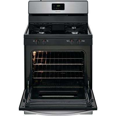 30 in. 4.2 cu. ft. Single Oven Gas Range in Stainless Steel