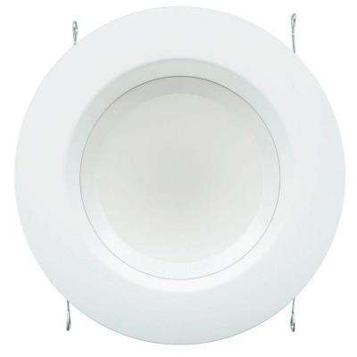 6 in. 10-watt (65W) Bright White (3000K) LED Recessed Down Light