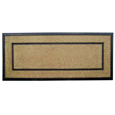 DirtBuster Single Picture Frame Black 24 in. x 57 in. Coir with Rubber Border Door Mat