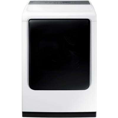 7.4 cu. ft. Gas Dryer with Mid Controls and Steam in White