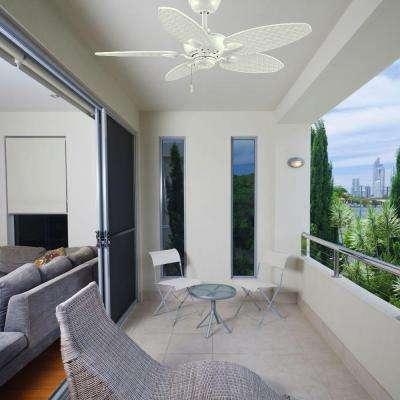 Largo 48 in. Indoor/Outdoor Matte White Ceiling Fan