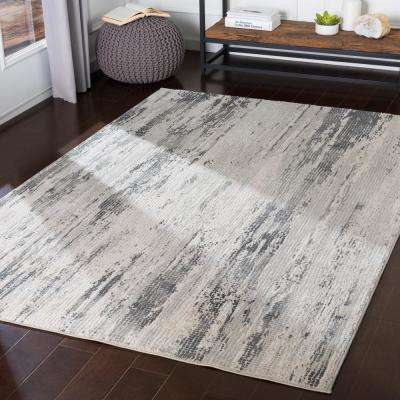 Marquis Medium Grey 6 ft. 7 in. x 9 ft. 6 in. Abstract Area Rug