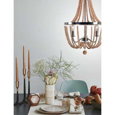 Regas 3-Light Wood Chandelier