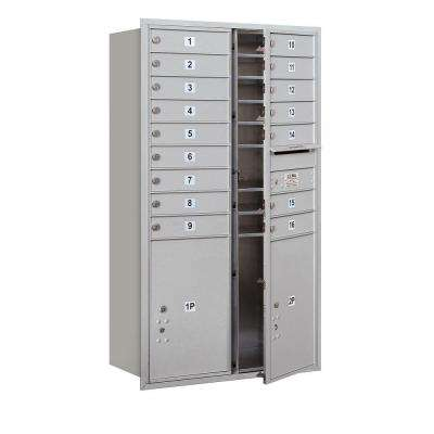 55 in. H x 31-1/8 in. W Aluminum Front Loading 4C Horizontal Mailbox with 16 MB1 Doors/2 PL6's