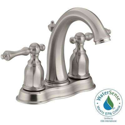 Kelston 4 in. 2-Handle Mid-Arc Water-Saving Bathroom Faucet in Vibrant Brushed Nickel