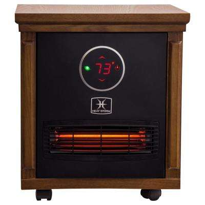 Smithfield Classic 1,500-Watt Infrared Quartz Portable Heater with Built-In Thermostat and Over Heat Sensor