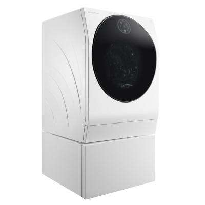 24 in. 2.8 cu. ft. All-in-One Smart Washer and Electric Ventless Dryer with WiFi Enabled in White