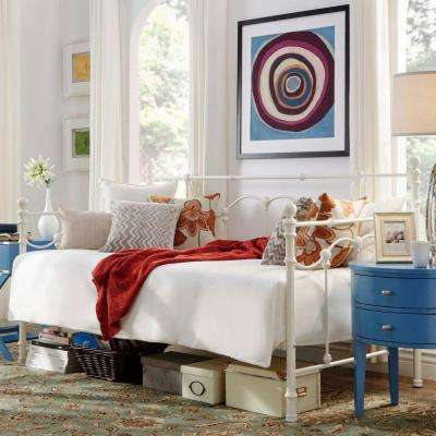 Dorado Metal Twin-Size Day Bed in Antique White