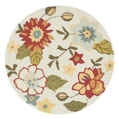 Summerton Lifestyle Collection Ivory/Olive 3 ft. Round Area Rug
