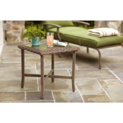 Bloomfield 20 in. Woven Patio End Table
