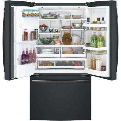 Adora 27.7 cu. ft. French-Door Refrigerator in Black Slate with Hands Free Autofill