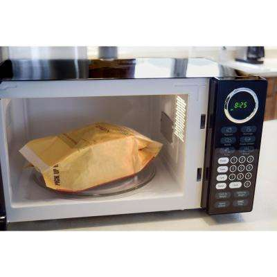 0.9 cu. ft. Countertop Microwave Oven in Black