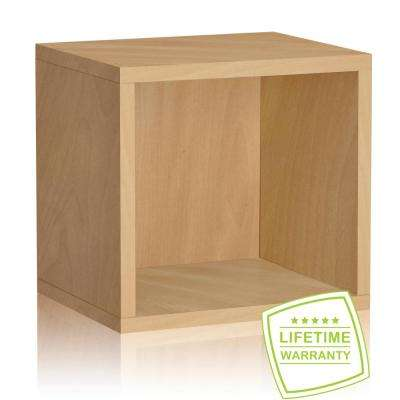 Connect System 11.2 x 13.4 x 13.4 zBoard  Stackable Open Storage Cube Organizer Unit in Natural Wood Grain