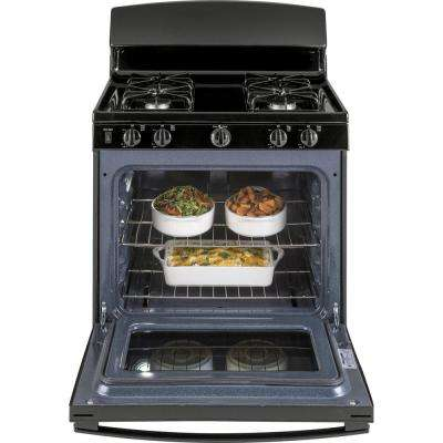 4.8 cu. ft. Gas Range with Standard Cleaning Oven in Black