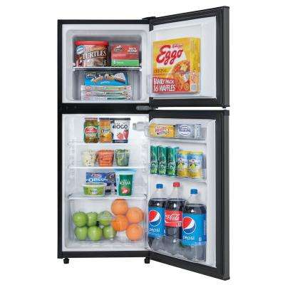 4.7 cu. ft. 2-Door Mini Fridge in Black Stainless Steel