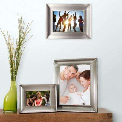 Devyn 8 in. x 10 in. Metal Picture Frame-Pewter Finish With Velvet Backing