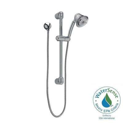 FloWise Transitional 3-Spray Wall Bar Shower Kit in Satin Nickel