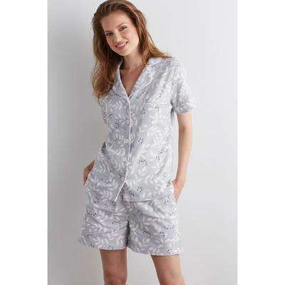 Cotton Flannel Women's Pajama Short Set