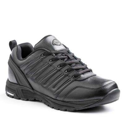 Apex Men Black Slip Resistant Safety Work Shoe