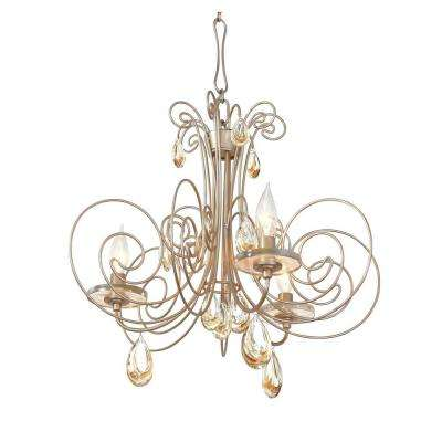 Elysse 3-Light Gold Dust Chandelier with Tri-Tone Crystal