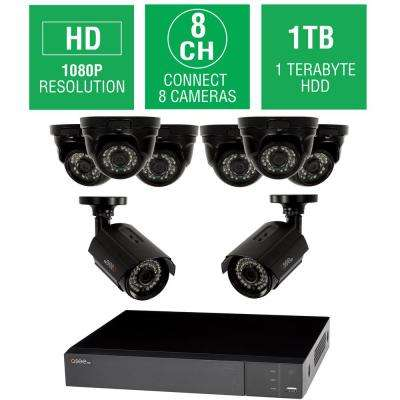 8-Channel 1080p 1TB HD Video Surveillance System with 6-Dome and 2-Bullet Cameras and 100 ft. Night Vision