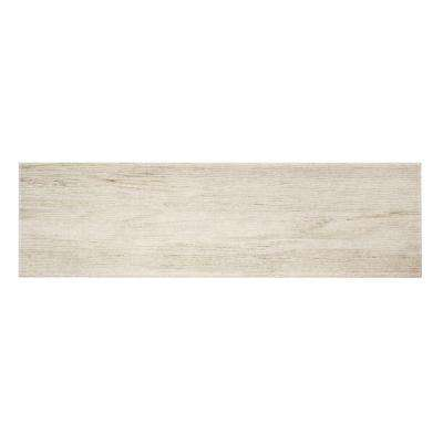 Listello Ara Bianco 7 in. x 24 in. Porcelain Floor and Wall Tile (19.38 sq. ft. / case)