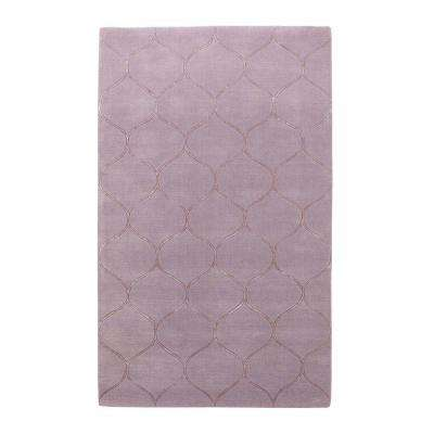 Simple Scallop Lavender 2 ft. 6 in. x 4 ft. 2 in. Area Rug