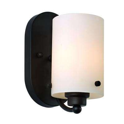 1-Light Rubbed Oil Bronze Wall Sconce