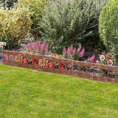 4 ft. Woven Willow Edging with Cross Pattern