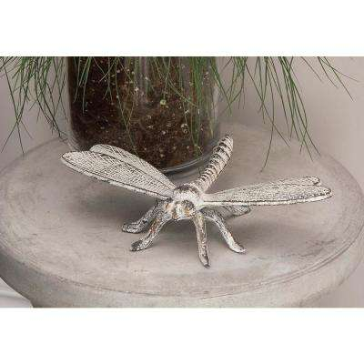 10 in. x 2 in. Assorted Gold, Silver or Green Metal Dragonfly Figures