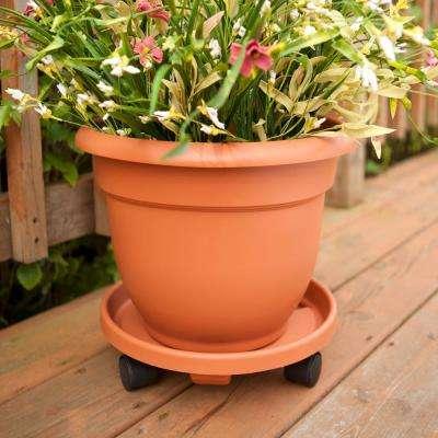 14 x 3.5 Terra Cotta Caddie Plant Dolly Plastic Round