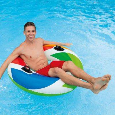 Inflatable 47 in. Color Whirl Tube Swimming Pool Raft with Handles (6-Pack)