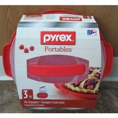 Portable 9 in. Pie Dish with Carrier