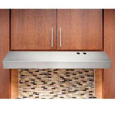 36 in. Under Cabinet Convertible Range Hood in Stainless Steel