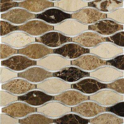 Micro Thistle Sprout Glass and Marble Floor and Wall Tile - 3 in. x 6 in. Tile Sample