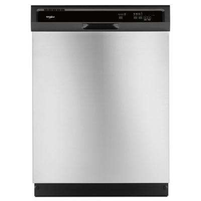 Front Control Built-In Tall Tub Dishwasher in Stainless Steel