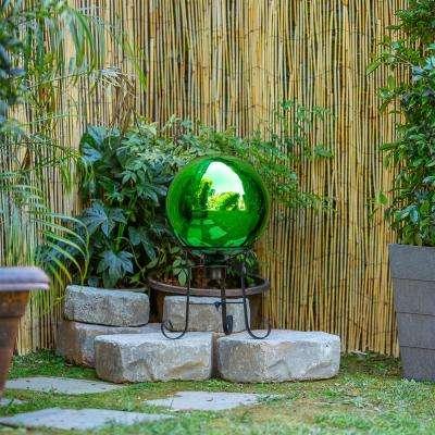 Alpine Corporation Electric Green Gazing Globe - Glass Sphere with Neck  - Outdoor Yard Art Decor
