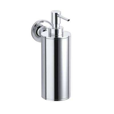 Purist Wall-Mount Metal Soap Dispenser in Polished Chrome
