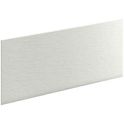 Choreograph 0.3125 in. x 60 in. x 28 in. 1-Piece Shower Wall Panel in Dune with Stix Texture