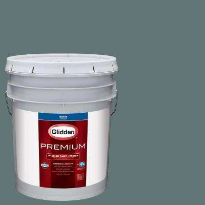 5 gal. #HDGCN21D Dark Teal Woods Satin Interior Paint with Primer