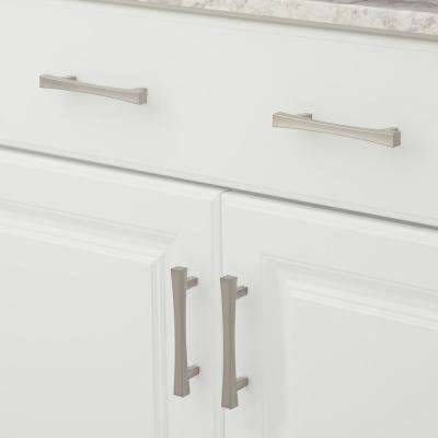 Transitional 3-3/4 in. (96 mm) Center-to-Center Brushed Nickel Cabinet Pull