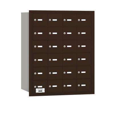 3600 Series Bronze Private Rear Loading 4B Plus Horizontal Mailbox with 24A Doors