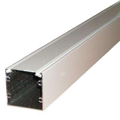 8 ft. x 2 in. x 2 in. Aluminum White Extrusion with Spline Track